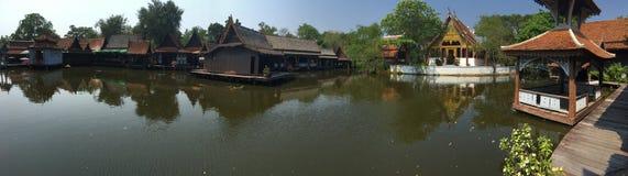 The floating market panorama Royalty Free Stock Photo