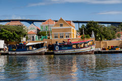 Floating Market  Punda. Floating Market Punda- Views around Curacao Caribbean island Stock Image