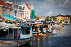 Floating Market  Punda. Floating Market Punda- Views around Curacao Caribbean island Royalty Free Stock Images