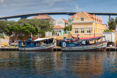 Floating Market  Punda. Floating Market Punda- Views around Curacao Caribbean island Stock Photos