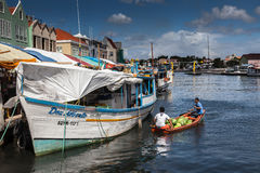 Floating Market  Punda. Floating Market Punda- Views around Curacao Caribbean island Stock Images