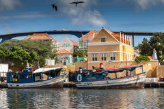 Floating Market  Punda. Floating Market Punda- Views around Curacao Caribbean island Stock Photography