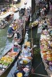 Floating Market Scene stock image