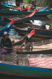 Floating market in Siem Reap, Cambodia royalty free stock photos