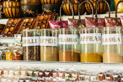 Floating market spices Royalty Free Stock Photos