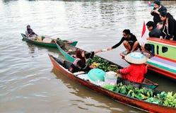 Floating market. Still life in Banjarmasin Stock Photography