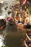 Floating market.thailand. The Damnoen Saduak Floating Market is located at Stock Photography