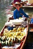 Floating market, Thailand Stock Photos