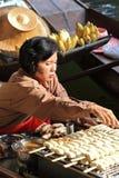 Floating market, Thailand Stock Image