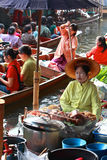 Floating market, Thailand Royalty Free Stock Images
