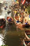 Floating Market,Thailand stock photography