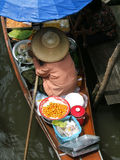 Floating market in thailand. Damnoen Saduak Floating Market, near bangkok stock photo
