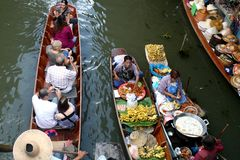 Floating Market in Thailand Royalty Free Stock Photos