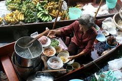 Floating Market in Thailand Stock Images