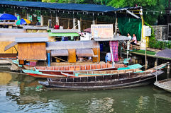 Floating market in Thailand Stock Image