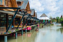 Floating market. From Thailand royalty free stock photos