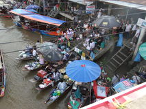 Floating market, Thailand. Ampawa floating market at Samutsongkram city, Thailand stock photo