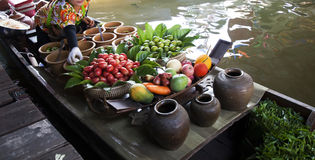 Floating market, Thailand Stock Photography