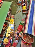 Floating market, Thailand Royalty Free Stock Photography