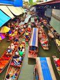 Floating market, Thailand Stock Photos