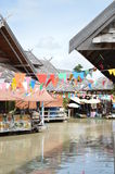 Floating market in Thailand Stock Photography