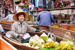 Floating Market of Thailand Royalty Free Stock Images