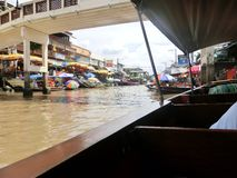Floating market. Thailand life seafood canal boat people Stock Photo