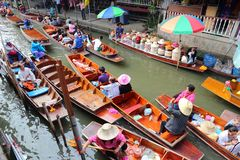 Floating Market, Thailand Stock Images