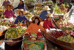 Floating market in Thailand. royalty free stock image