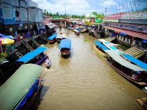 Floating market in thailand Royalty Free Stock Photography
