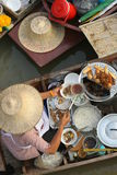 Floating market. In Thailand selling paste of rice flour Stock Photo