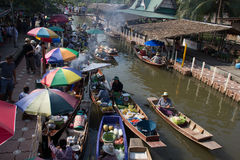 Floating market in thailand Royalty Free Stock Photo