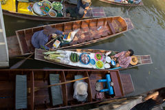 Floating market in thailand Stock Photos