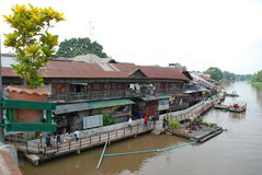 Floating market in Thailand Royalty Free Stock Image