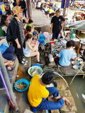 The floating market Stock Photo