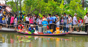 Floating market. In upcountry thailand Stock Images