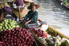 Floating Market Vendor Stock Images