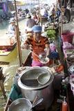 Floating Market Vendors Stock Photo
