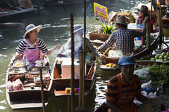 Floating Market Vendors Royalty Free Stock Image
