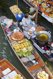 Floating Market Vendors Royalty Free Stock Photo