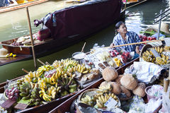 Floating Market Vendors Royalty Free Stock Photography