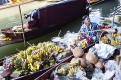Floating Market Vendors Royalty Free Stock Photography