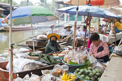 Floating Market Vendors Stock Photography