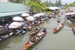 Floating Market Vendors Stock Images