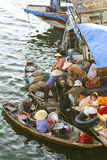 Floating market, Vietnam Royalty Free Stock Photo