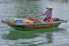 Floating market in Vietnam Stock Photo