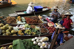 Floating markets in bangkok. Bangkok Floating Market - late March / early April, on the outskirts of Bangkok, expect to see market traders floating around on Stock Photography