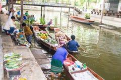 Floating markets,  Damnoen Saduak,Ratchaburi Province, Thailand Royalty Free Stock Photo