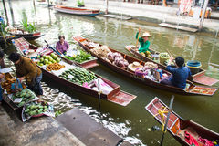 Floating markets,  Damnoen Saduak,Ratchaburi Province, Thailand Stock Photo