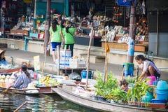 Floating markets,  Damnoen Saduak,Ratchaburi Province, Thailand Stock Image